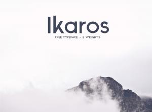 Téléchargement gratuit : Typographie moderne Ikaros